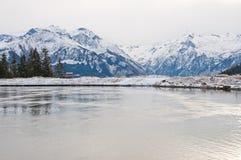 O lago water Reservoir, Schmittenhöhe, Zell Am vê, Áustria Foto de Stock Royalty Free
