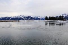 O lago water Reservoir, Schmittenhöhe, Zell Am vê, Áustria Fotos de Stock Royalty Free