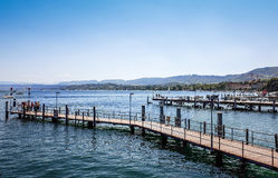 O lago Zurique é um lago em Suíça Foto de Stock Royalty Free