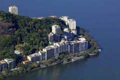 O Lagoa Rodrigues de Freitas e Ipanema Fotos de Stock