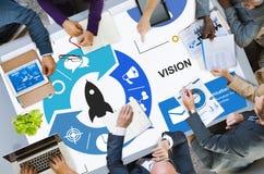 O lançamento começa acima Rocket Strategy Plan Planning Concept Imagem de Stock