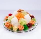 O lance asiático da prosperidade, Lohei, Yusheng, yee cantou imagens de stock royalty free