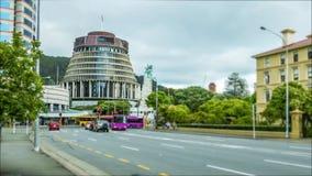 O lapso de tempo da cidade de Wellington, a colmeia e a manhã traficam video estoque