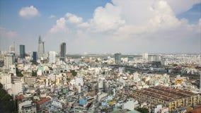 O lapso de tempo da skyline de HO CHI MINH CITY, cidade de Ho Chi Minh é a cidade a mais grande em Vietname vídeos de arquivo