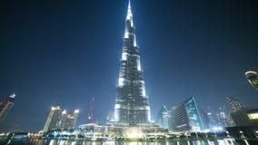 O lapso de tempo o mais alto da área de turista 4k da construção do mundo de Dubai