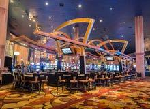 O Las Vegas - 12 de dezembro de 2013: casinos famosos de Las Vegas o 12 de dezembro em Las Vegas, EUA Las Vegas está jogando Imagem de Stock