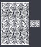 O laser cortou o painel do vetor e o teste padrão sem emenda para o painel decorativo Imagens de Stock Royalty Free