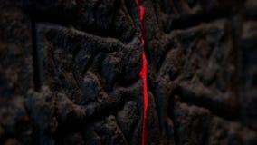 O laser faz a varredura sobre a cinzeladura antiga da rocha da cruz filme