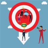 O líder escolhe o trabalhador perfeito para o projeto novo Foto de Stock