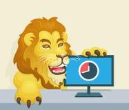 O leão - conceito famoso do imposto de renda do brasileiro Imagens de Stock Royalty Free