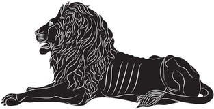 O leão de encontro - o símbolo heráldico Imagem de Stock