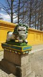 O leão do deus Foto de Stock