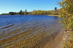 O'Leary湖在北明尼苏达 库存照片