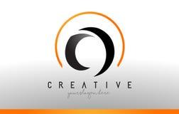 O Letter Logo Design with Black Orange Color. Cool Modern Icon T. O Letter Logo Design with Black Orange Color. Cool Modern Icon Letters Logo Vector Royalty Free Stock Photo
