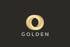 O letter Logo infinite shape design vector Royalty Free Stock Photos