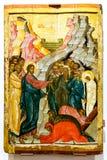 O levantamento de Lazarus, século XV Foto de Stock
