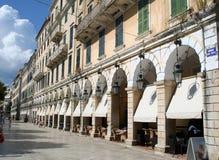O ?Liston? de Corfu. Imagens de Stock Royalty Free