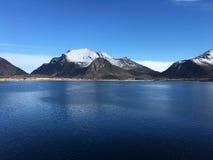 O litoral bonito em Reipå, Noruega do norte Fotos de Stock Royalty Free