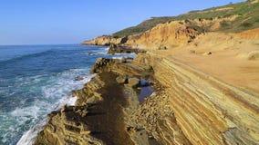 O litoral de Califórnia do sul perto de San Diego filme