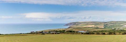 O litoral de Pembrokeshire em Gales, Reino Unido fotografia de stock royalty free