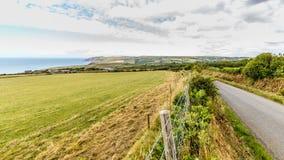 O litoral de Pembrokeshire em Gales, Reino Unido fotografia de stock