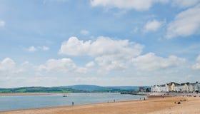 O litoral para Exmouth imagem de stock