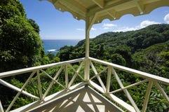 O litoral perto do castelo Bruce, ilha de Domínica fotos de stock royalty free
