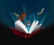 O livro é mágico Foto de Stock