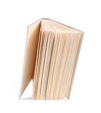 O livro aberto do branco antigo do vintage cai no ar Imagem de Stock Royalty Free