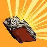 O livro brilha, luz do conhecimento ilustração stock
