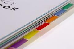 O livro cataloga o divisor Imagem de Stock
