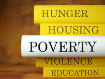 O livro da pobreza Fotos de Stock Royalty Free