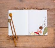 O livro de nota que o dispositivo está equipado com o cozimento consiste na Foto de Stock