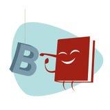 O livro engraçado dos desenhos animados está perfurando uma letra Imagens de Stock