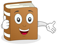 O livro engraçado manuseia acima do caráter Imagens de Stock