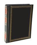O livro na tampa de couro Imagens de Stock