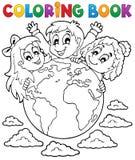 O livro para colorir caçoa o tema 2 Foto de Stock Royalty Free