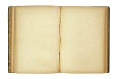 O livro velho aberto isolou-se no branco Fotografia de Stock