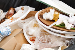 O lixo recicl o escaninho Fotos de Stock