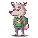 O lobo sorri ilustração royalty free