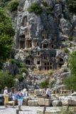 O local antigo de Myra em Demre em Turquia imagem de stock royalty free