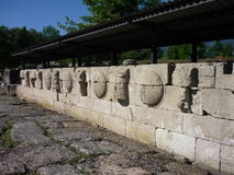 O local arqueológico de Dion antigo, Grécia Fotografia de Stock Royalty Free