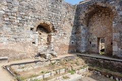 O local arqueológico de Miletus uma cidade do grego clássico na costa ocidental de Anatolia imagens de stock royalty free