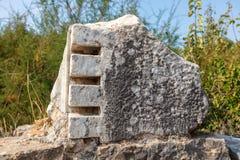 O local arqueológico de Miletus uma cidade do grego clássico na costa ocidental de Anatolia fotos de stock royalty free