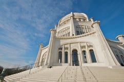 O local de culto de Baha'i em Chicago imagens de stock