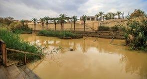 O local de Jordan River Baptism imagens de stock