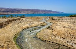 O local de Jordan River Baptism imagens de stock royalty free