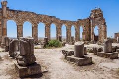 O local de Volubilis em Marrocos Imagem de Stock