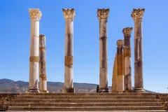 O local de Volubilis em Marrocos Imagens de Stock