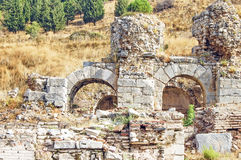 O local e as ruínas de Ephesus Fotografia de Stock Royalty Free